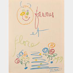 After Pablo Picasso (Spanish, 1881-1973)      Faunes et Flore D'Antibes  /Portfolio of Twelve Lithographs