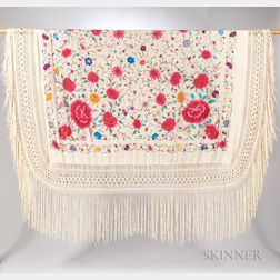 Embroidered Export Macrame Shawl