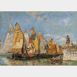 School of Walter Franklin Lansil (American, 1846-1933)      Venice View