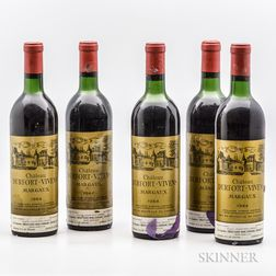Chateau Durfort Vivens 1964, 5 bottles