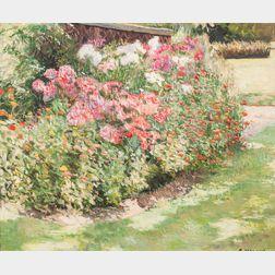 George Melnik (American, 20th Century)      In the Garden