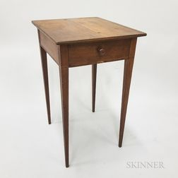 Federal Inlaid Cherry One-drawer Stand