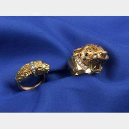 Two Animal Head Rings