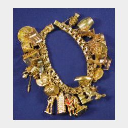 18kt Gold Travel Charm Bracelet