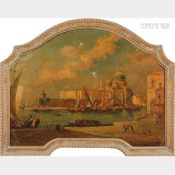Manner of Canaletto (Italian, 1697-1768)      A Venetian Scene