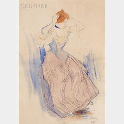Jacques Villon (French, 1875-1963)      Femme se coiffant