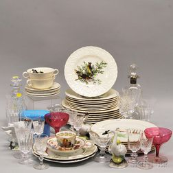 Large Assortment of Tableware, Cut Glassware, and Decorative Table Items