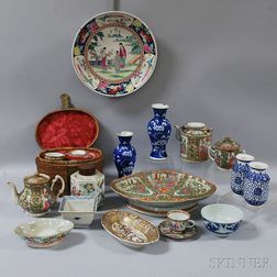 Twenty Pieces of Chinese and Japanese Porcelain