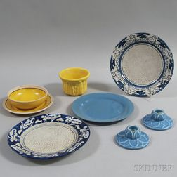 Eight Pieces of American Art Pottery