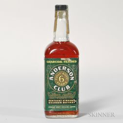 Anderson Club 6 Years Old 1956, 1 4/5 quart bottle