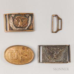 Three Civil War-era Belt Plates