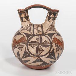 Acoma Polychrome Pottery Wedding Jar