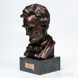 After Augustus Saint-Gaudens (American, 1848-1907)      Head of Lincoln