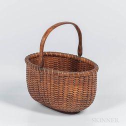 Oval Nantucket Swing-arm Basket