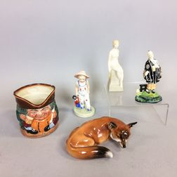 Five Royal Doulton Ceramic Figures