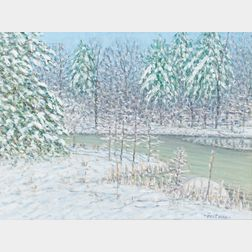 E. Joseph Fontaine (American, 1929-2004)      Winter's Majesty