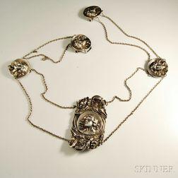 Art Nouveau Sterling Silver Belt