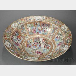Chinese Export Rose Mandarin Porcelain Wash Bowl