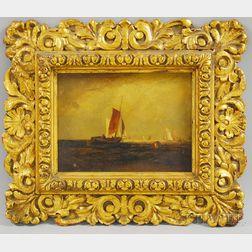 William Van De Velde Bonfield (American, 1834-1885), After Joseph Mallord William      Turner (British, 1775-1851)    Bligh Sand