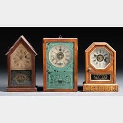 Three Thirty-hour Cottage Clocks