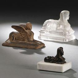 Three Figures of Sphinxes