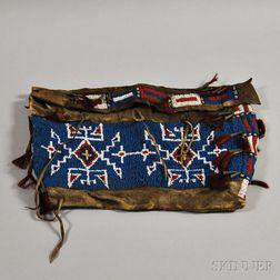 Lakota Beaded Hide Possible Bag