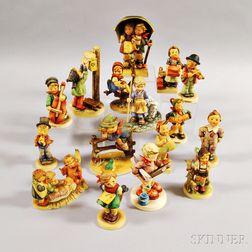 Sixteen Hummel Figures