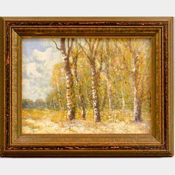 American School, 20th Century      Autumn Forest with Early Snow.