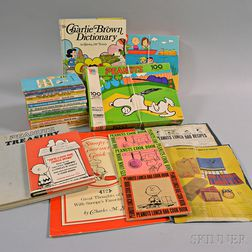 Group of Peanuts Books and Games.     Estimate $60-80