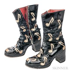 Black Patent Leather Platform Boots