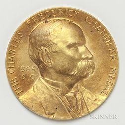 Tiffany & Co. Charles Frederick Chandler 14kt Gold Medal