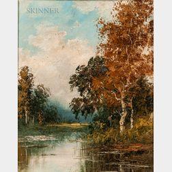 European School, 19th Century      Landscape with River