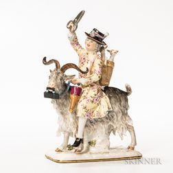 Meissen Porcelain Figure of a Traveling Tailor