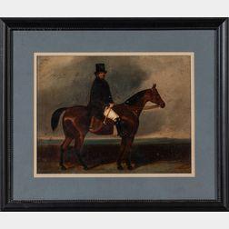 Charles Bigler Spalding (British, 1810-1871)    Man on Horseback