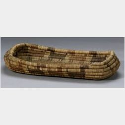 Southwest Coiled Basketry Tray