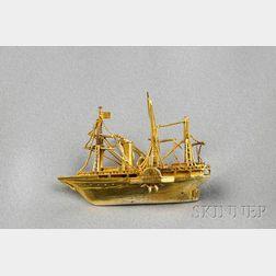 Antique Model Ship Pendant