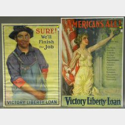 Two WWI Lithograph Posters