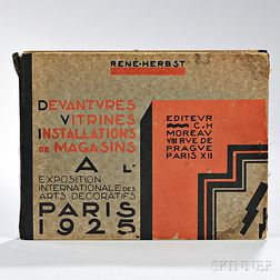 Herbst, Rene (1891-1982) Devantures Vitrines Installations de Magasins a L'Exposition Internationale des Arts Decoratifs.