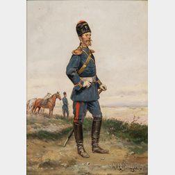 Paul Emile Léon Perboyre (French, 1851-1929)      The Cossack