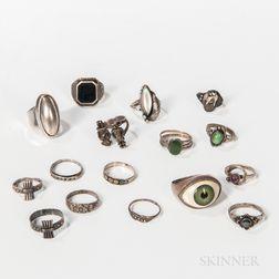Fifteen Silver Rings