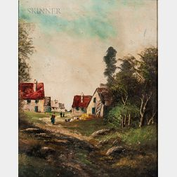 European School, 19th/20th Century      Village Landscape