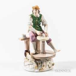 Meissen Porcelain Figure of a Potter
