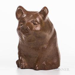 Sewer Tile Pottery Pig Figure