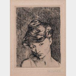Pablo Picasso (Spanish, 1881-1973)      Tête de Femme: Madeleine