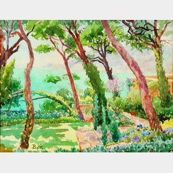 Edward Darley Boit (American, 1842-1916)      Garden By the Sea
