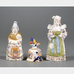 Three French Faience Bells