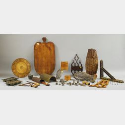 Group of Country Tin, Metal, and Wood Kitchen Items
