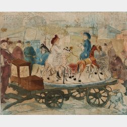 Jacques Villon (French, 1875-1963)      Le petit manège rue Caulaincourt