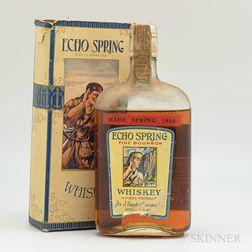 Echo Spring Fine Bourbon Whiskey 6 Years Old 1916, 1 pint bottle