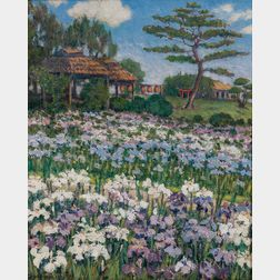 Clara Fairfield Perry (American, 1870-1941)      Hori-Kiri Garden, Tokyo